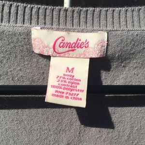 Candie's Dresses - Candie's gray & fuchsia long sleeve sweater dress